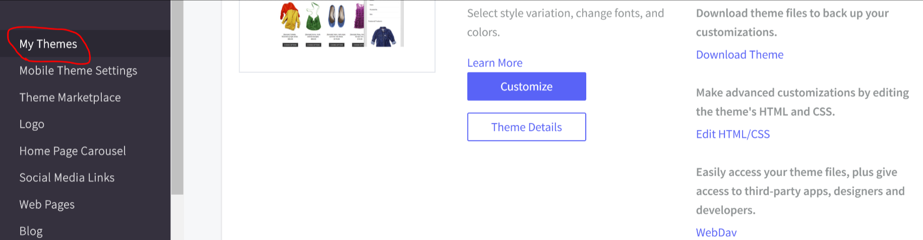 How to enable google shopping campaigns for your bigcommerce 2 click on storefront my themes malvernweather Choice Image