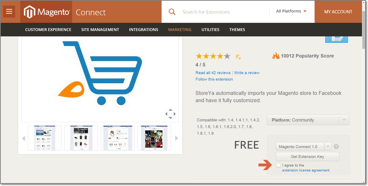 Storeyas Free Magento Facebook Store Extension Automatically