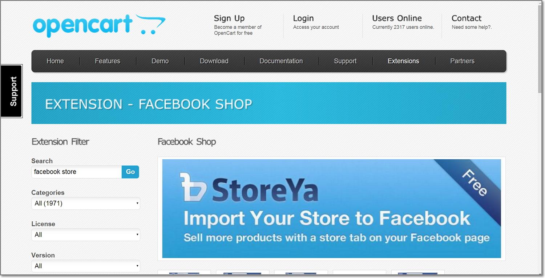 Opencart 2 0 Facebook Shop now available – StoreYa